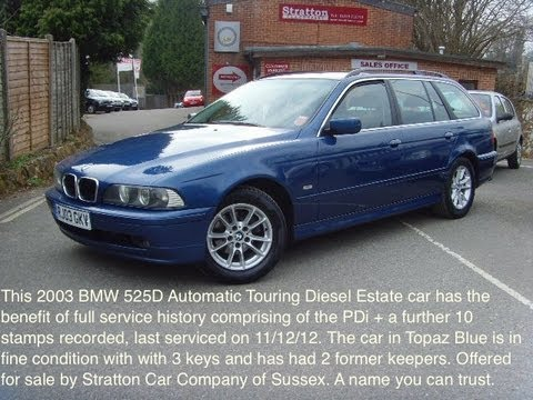 BMW 525D Touring Estate 01825 713793  YouTube