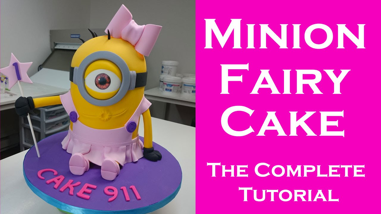 How to make a Minion FairyBallerina cake for girls Complete
