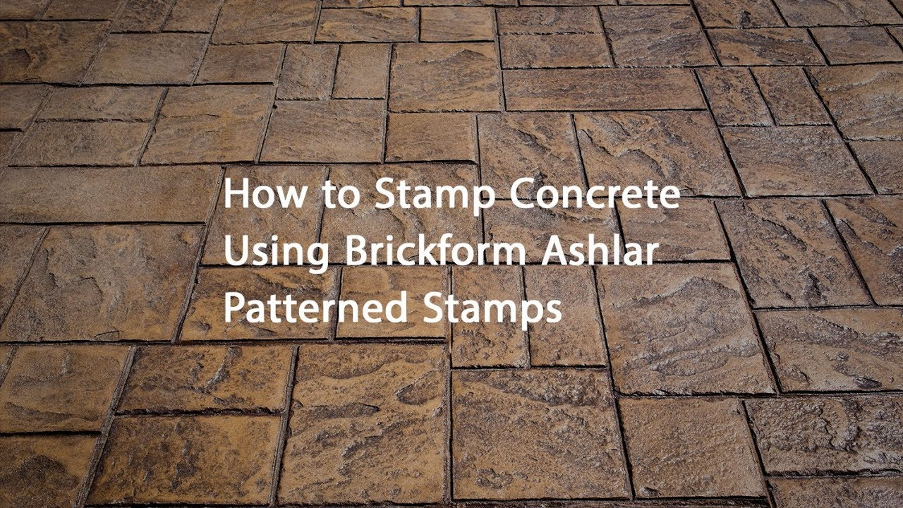 How To Stamp Concrete With Ashlar Stamps Youtube