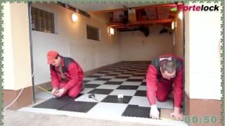 Pokládka podlahy Fortelock v garáži