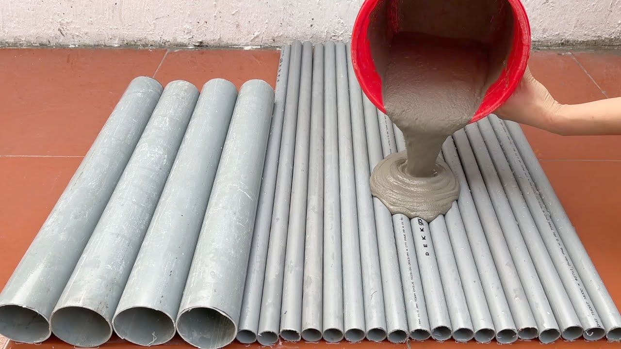 Cement And PVC Pipe . How To Make Flower Pots And Coffee Table From PVC Pipe Simple And Beautiful .