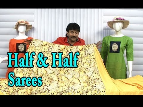 Half & Half Sarees / Crepe Silk Fabric / March Mega Clearance Sale