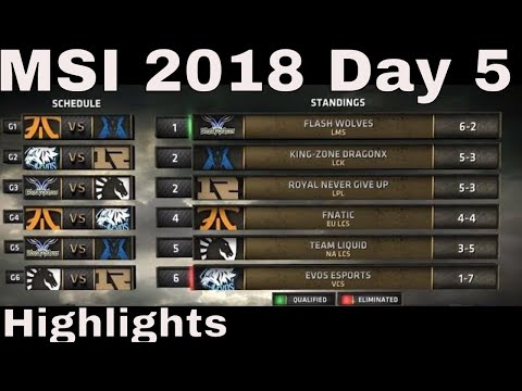 MSI 2018 Highlights Day 5 ALL GAMES + TIE-BREAKERS | Mid Season Invitational 2018