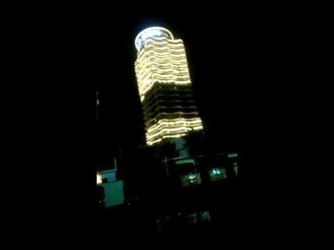 Calicut largest building light decoration at beach