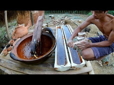 Make sugar handmade by primitive people