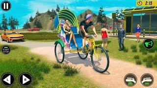 Bicycle Tuk Tuk Auto Rickshaw - New Driving Games - Android Gameplay screenshot 3