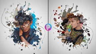 PicsArt Ink Splash Photo Editing Tutorial ! SE CREATION