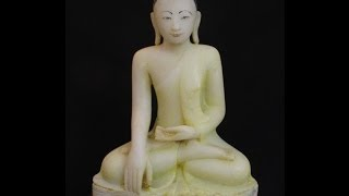 Antique alabaster Buddha 19th century from Mandalay period originated from Burma | Buddha Statues