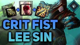 CRIT FIST LEE SIN IS THE FLYING KICK INTO THE CRITICAL FIST! LEE SIN SEASON 7! - League of Legends