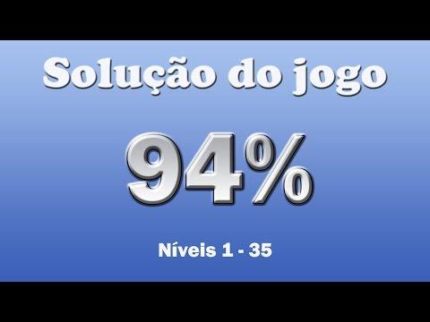 Solução do jogo 94% - Completo - Todas as respostas dos níveis 1 até 35