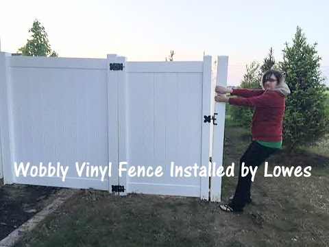 Freedom Fence Lowes >> Wobbly Lowes Vinyl Fence Youtube