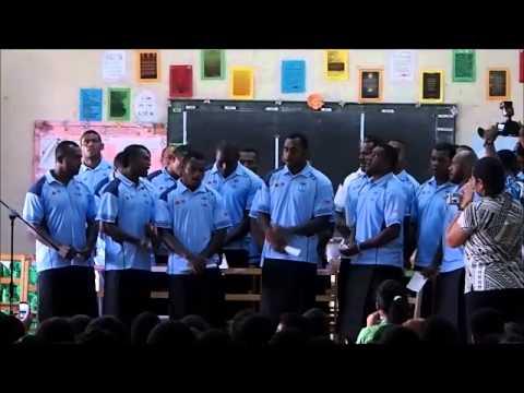 Telecom Fiji Warriors visit Ballantine Memorial School