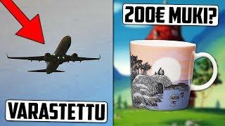 Mies Varastaa Lentokoneen Lentokentältä? Suomalaiset Sekoaa Muumimukeista!