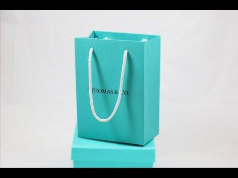 Breakfast At Tiffany Custom Printed Favor Gift Bags