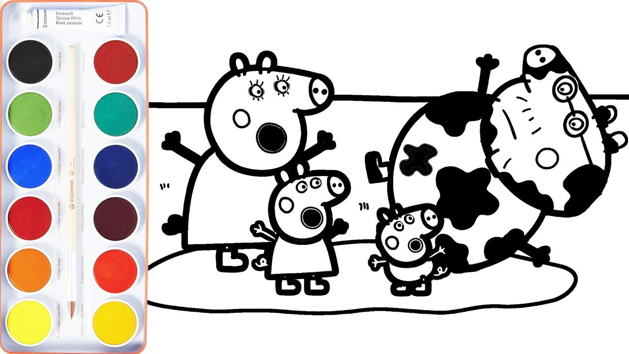 how to draw peppa pig video
