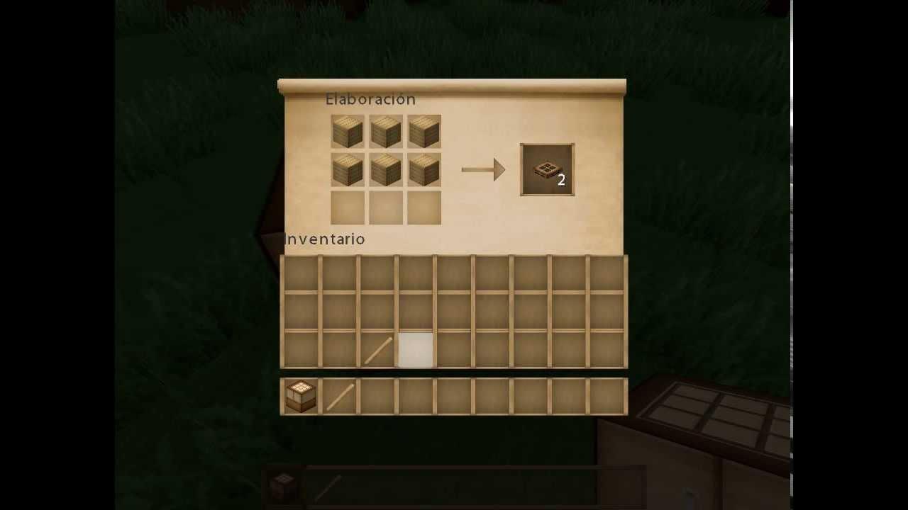Minecraft como hacer una trampilla de madera youtube for Como construir una biopiscina