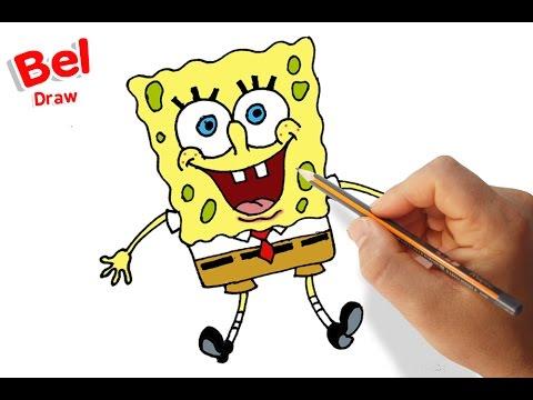 رسم سبونج بوب مع الخطوات للمبتدئين تعليم الرسم للاطفال Youtube
