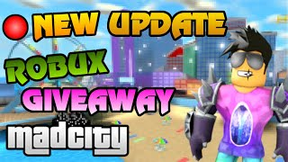 🔴 NEW MAD CITY + JAILBREAK UPDATE hype!! | Free ROBUX Giveaway | Roblox Jailbreak Live
