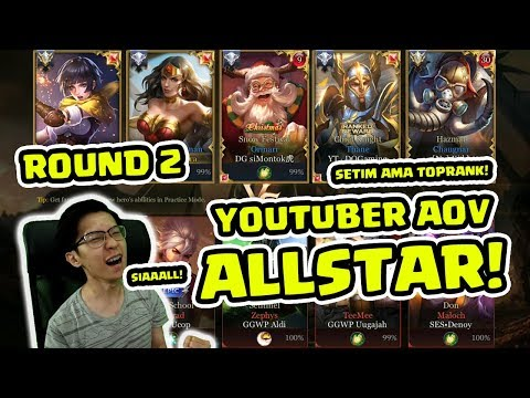 (Round 2) Youtuber AOV Allstar! Draft Super Kacau! WKWKland