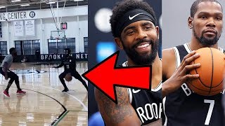 KYRIE IRVING LOOKING NASTY with KEVIN DURANT WORKING ON HIS GAME at NETS FIRST PRACTICE