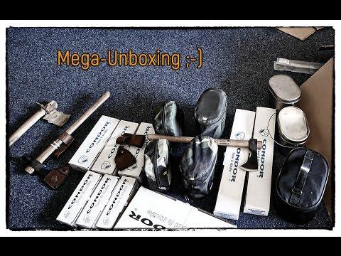 Mega-Unboxing: Condor Gear & russisches Kochgeschirr (Stahl & Titan)