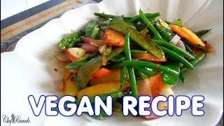 Healthy Green Stir-Fry Vegetables ( VEGAN RECIPE )  | Chef Ricardo Cooking