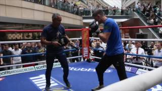 COOLHAND SPEED! - LUKE CAMPBELL SHOWS IMMENSE SPEED IN PADWORK WITH JORGE RUBIO / CAMPBELL v MENDEZ