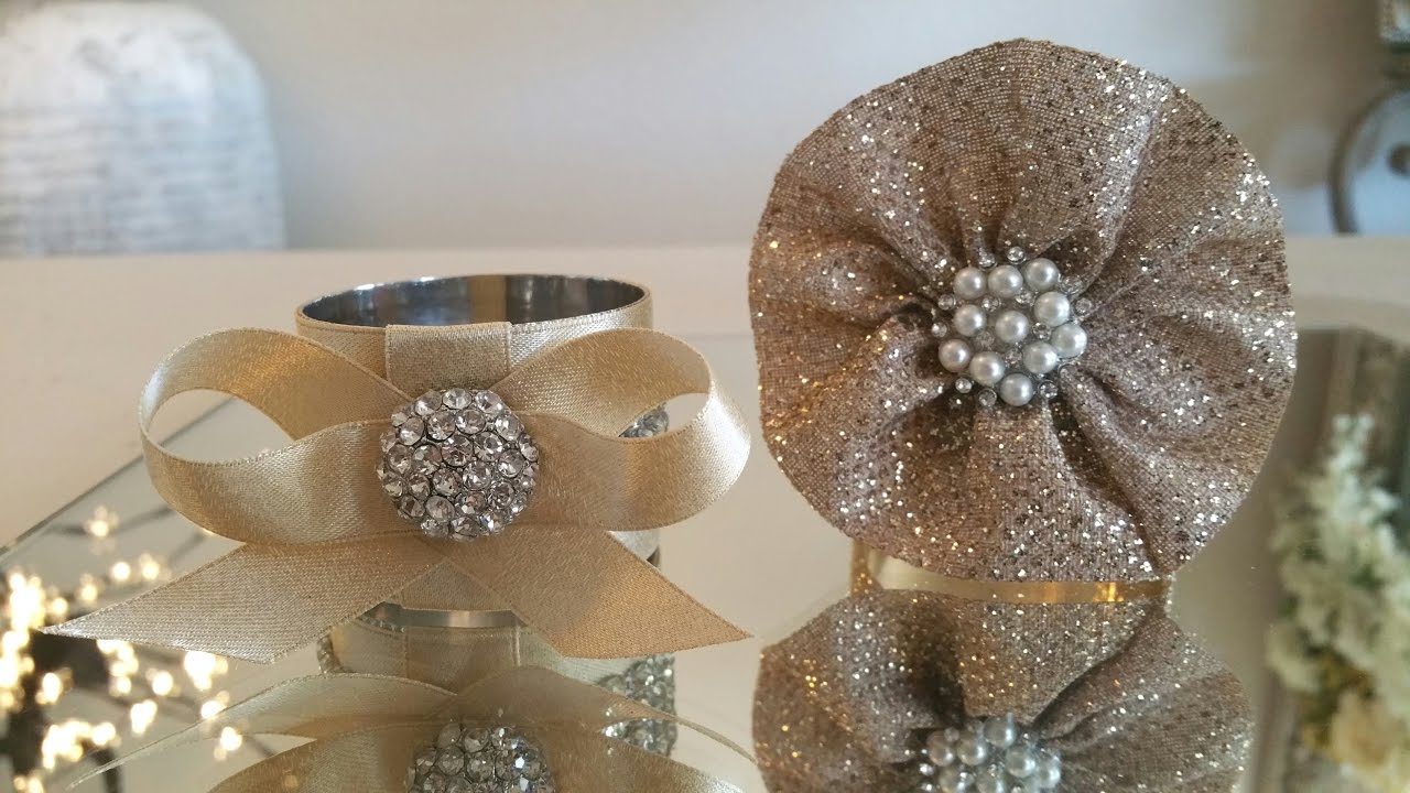 Diy Bling Napkin Ring Holders Under 3 00 To Make Youtube