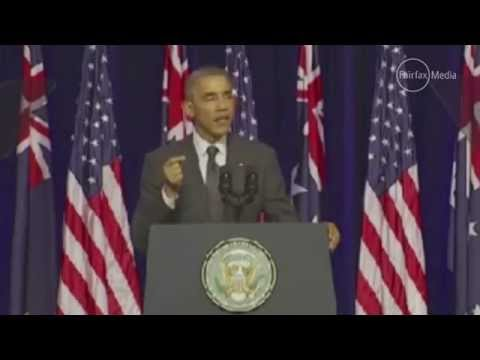 G20 summit  Barack Obama puts climate change at fore in speech at University of Queensland