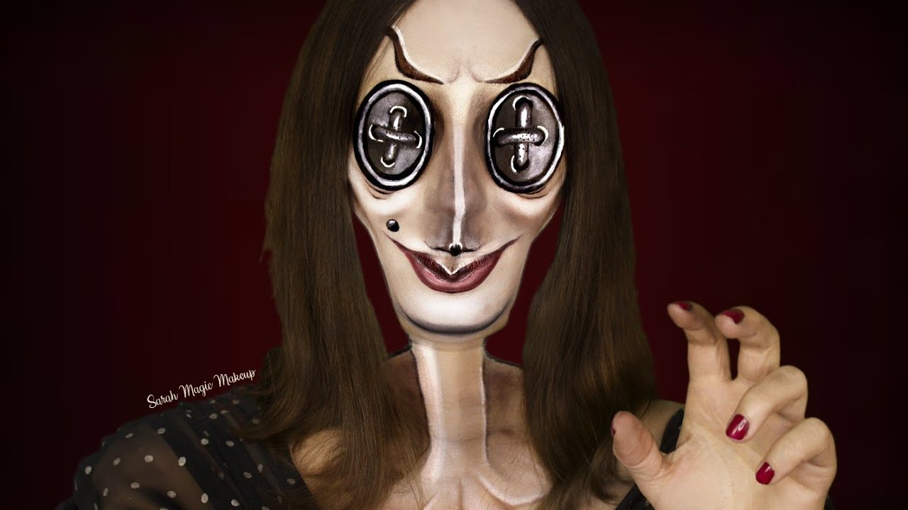 The Other Mother From Coraline Makeup Tutorial Day 24 Of 31 Days Of Halloween Youtube