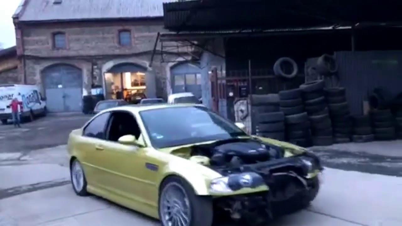 BMW E46 M3 V10 - swap - first test - YouTube
