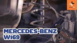 Jak vyměnit vinutou pružina zadního zavěšení kol na MERCEDES-BENZ A W169 NÁVOD | AUTODOC