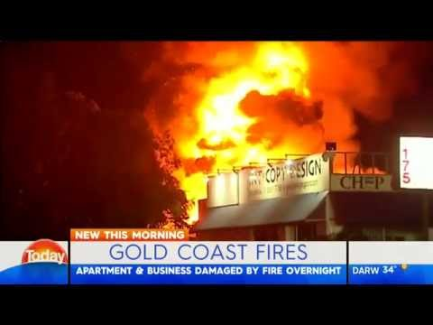 Two suspicious blazes tear through Gold Coast properties