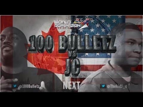 KOTD - Rap Battle - 100 Bulletz vs JC | #WD4
