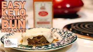 Keto Cinnamon Bun Mug Cake