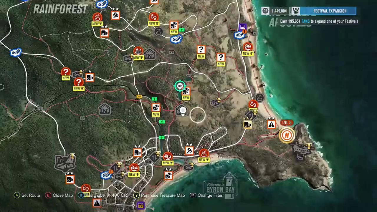 Horizon 3 Barn Find Map