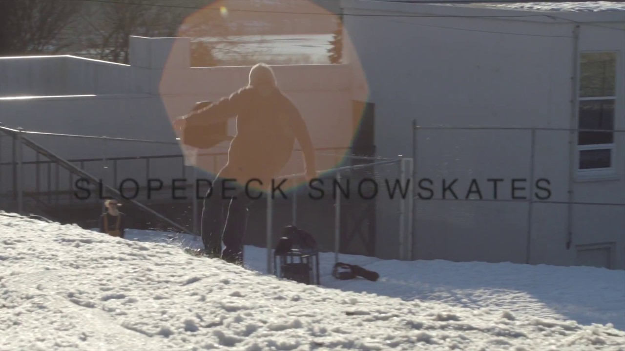 Slopedeck Snowskate video thumbnail