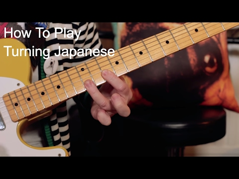 'Turning Japanese' The Vapours Guitar Lesson