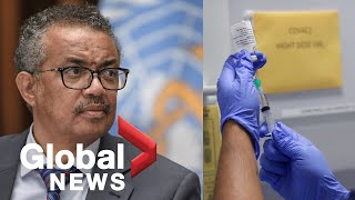 Coronavirus: WHO aims for 2 billion doses of a COVID-19 vaccine by the end of 2021 | FULL