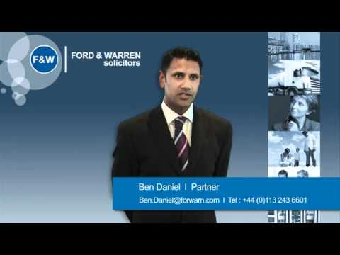 Employment Law services from Ford & Warren Solicitors