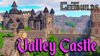 Minecraft Castle Timelapse: Gothic Castle in a Mountain River Valley