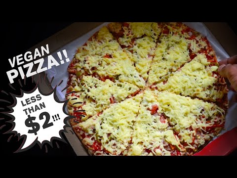 """TRYING the CHEAPEST VEGAN PIZZA IN THE WORLD!!! 