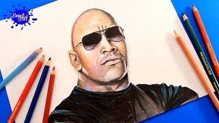 Drawing  WWE l Drawing Dwayne Johnson (The Rock) WWE / Drawings  wrestling