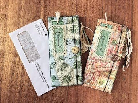 Junk Mail Envelope Journal - TUTORIAL (Step-by-step DIY)
