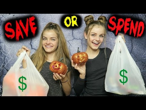 Trying Halloween Dollar Store Products ~ Save or Spend ~ Jacy and Kacy