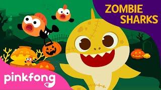 Halloween Zombie Shark | Baby Shark Halloween | Halloween Song | Pinkfong Halloween Songs