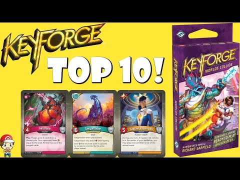 Top 10 Cards From Worlds Collide! (Keyforge!)