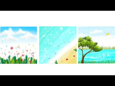 3 easy and simple nature drawing tutorial on Sony sketch thumbnail