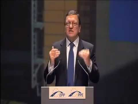 Commission President José Manuel Barroso addresses the EPP Congress in Marseille, France