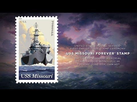 USPS USS Missouri Stamp Event